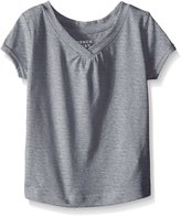 """French Toast Little Girls' """"Ruched V-Neck"""" T-Shirt"""