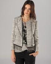 Maje Blazer - Tweed with Silver Chain Fringe