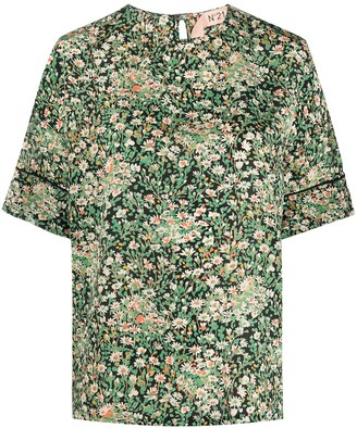 No.21 floral T-shirt