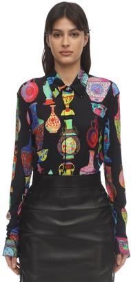 Versace Vessel Print Viscose Jersey Shirt