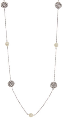 """Carolee Pearl & Ball Station 42"""" Necklace"""