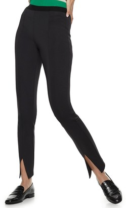 Nine West Women's Pull-On High-Waisted Skinny Scuba Pants