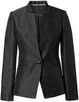 Banana Republic Long and Lean-Fit Inverted Collar Dot Blazer