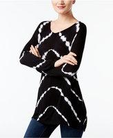 INC International Concepts Tie-Dyed Handkerchief-Hem T-Shirt, Created for Macy's