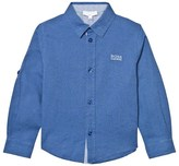 BOSS Blue Linen Blend Shirt