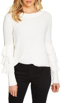 1 STATE Women's 1.state Tiered Ruffle Sleeve Sweater