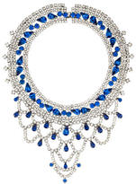 Tom Binns Tiered Crystal Collar Necklace