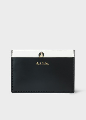 Paul Smith Men's Black Leather 'Naked Lady' Print Credit Card Holder