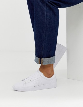 Fred Perry Spencer leather tonal in white