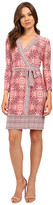 Donna Morgan 3/4 Sleeve Wrap Matte Jersey Dress