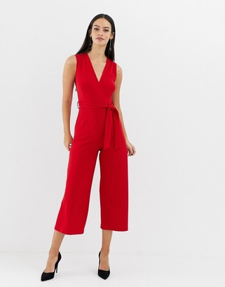 UNIQUE21 wrap front tailored jumpsuit