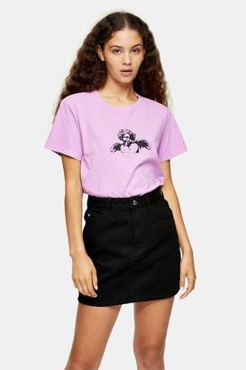 Topshop Womens Lilac Cherub T-Shirt - Purple