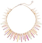 Kendra Scott Kaplan Rose Gold Statement Necklace in Dichroic Glass