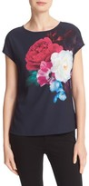 Ted Baker Women's Zeana Blushing Bouquet Woven Front Tee