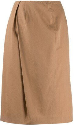 Maison Martin Margiela Pre Owned 1990s Pleated Front Straight Skirt