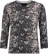 Markus Lupfer Snake-print cotton sweater