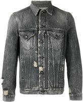 R 13 extreme distressed jacket - men - Cotton - S