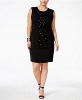 Poetic Justice Trendy Plus Size Sasha Studded Dress
