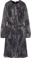 Burberry Printed silk-chiffon mini dress