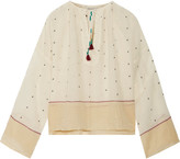 Mes Demoiselles Orpheo Embroidered Cotton-gauze Blouse - Ivory