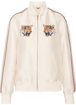 Stella McCartney Lorinda Embroidered Duchesse-satin Bomber Jacket - Ivory