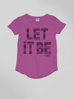 Junk Food Clothing Kids Girls Let It Be Tee-huck-xs