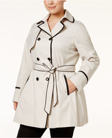 Betsey Johnson Plus Size Corset Trench Coat