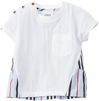 Burberry Icon Stripe Panel T-Shirt