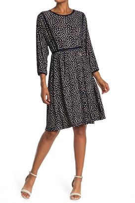 Max Studio Patterned Plisse Dress