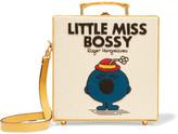 Olympia Le-Tan Little Miss Bossy Appliquéd Cotton-faille Shoulder Bag - Cream