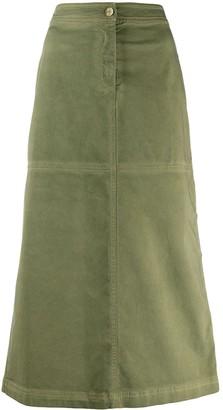 Pinko Side Button Maxi Skirt