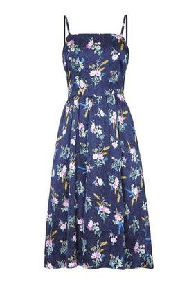 Yumi Floral On Spot Strap Dress
