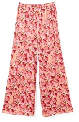 Phoebe Grace Peggy Palazzo Trouser In Large Pink Flower