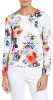 CeCe Women's Fanciful Bouquets Cardigan
