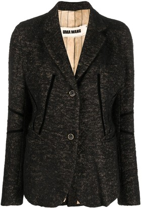 UMA WANG Knitted Single Breasted Blazer