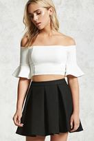 Forever 21 FOREVER 21+ Box Pleat Mini Skirt