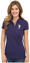 U.S. Polo Assn. Dot Print Pique Polo Shirt