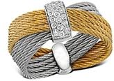 Alor Diamond Yellow & Gray Multi-Band Cable Ring