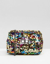 Skinnydip Rainbow Sequin Cross Body Bag