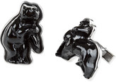 Lalique Bull & Bear Cufflinks - Black/Silver