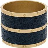 Marc by Marc Jacobs Womens High Tide Cork Studded Bangle Bracelet Blue