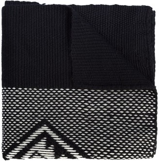 Voz Contrast Knitted Scarf