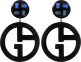 Giorgio Armani Logo Earrings