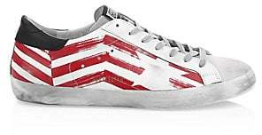 Golden Goose Men's Men's Red Flag Superstar Sneakers