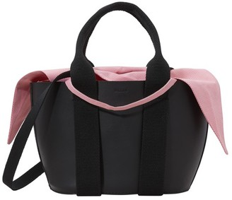 Muun Leather tote with pouch