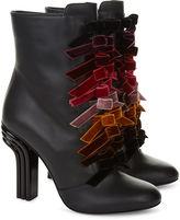 Marco De Vincenzo Black Leather Bow Front Boots