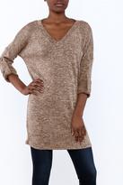 She + Sky V-Neck Sweater