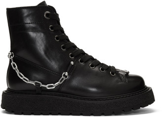 Neil Barrett Black Punk Chain Gorilla Boots