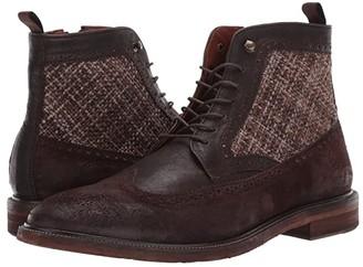 J&M EST. 1850 Brewer Wing Tip Boot (Dark Brown) Men's Boots