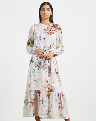Ted Baker KALLY Vanilla Peplum Midi Dress